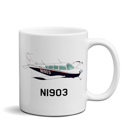 Airplane Custom Mug AIR255J95-BR1 - Personalized w/ your N#
