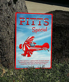 Pitts Special Custom HD Metal Airplane Sign - Red/White