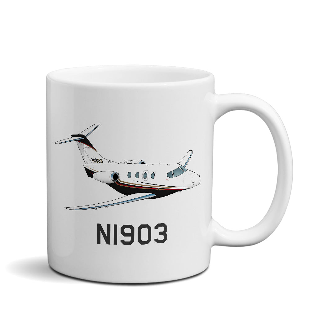 Airplane Custom Mug AIR255GI51A-BGR1 - Personalized w/ your N#