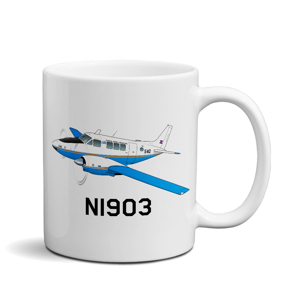 Airplane Custom Mug AIR255HL5A65-B1 - Personalized w/ your N#