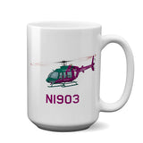 Helicopter Ceramic Custom Mug HELI25C407-GV1 - Personalized w/ your N#