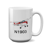Airplane Ceramic Custom Mug AIRG9G3FC-R3 - Personalized w/ your N#