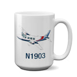 Airplane Ceramic Custom Mug AIRG9G15I601P-BSR1 - Personalized w/ your N#