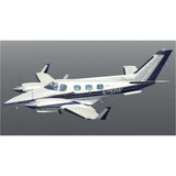 Beechcraft B60 Duke Blue model