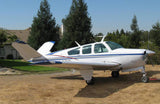 Beechcraft Bonanza V35A Blue Silver Red model 1