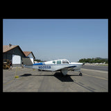 Beechcraft Bonanza F35 Blue Silver model 2