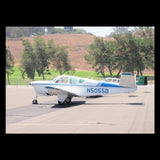 Beechcraft Bonanza F35 Blue Silver model 1