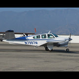 Beechcraft Bonanza V35 (Blue/Silver) Airplane Design