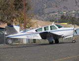 Beechcraft Bonanza V35A Blue Silver Red model 2