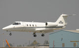"The Learjet 55 ""Longhorn"" (Black/Silver) Airplane Design"