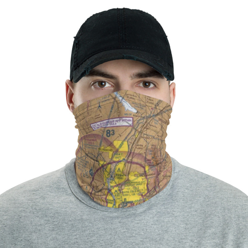 Airport Maps Neck Gaiter - Customize w/ your Airplane & N#
