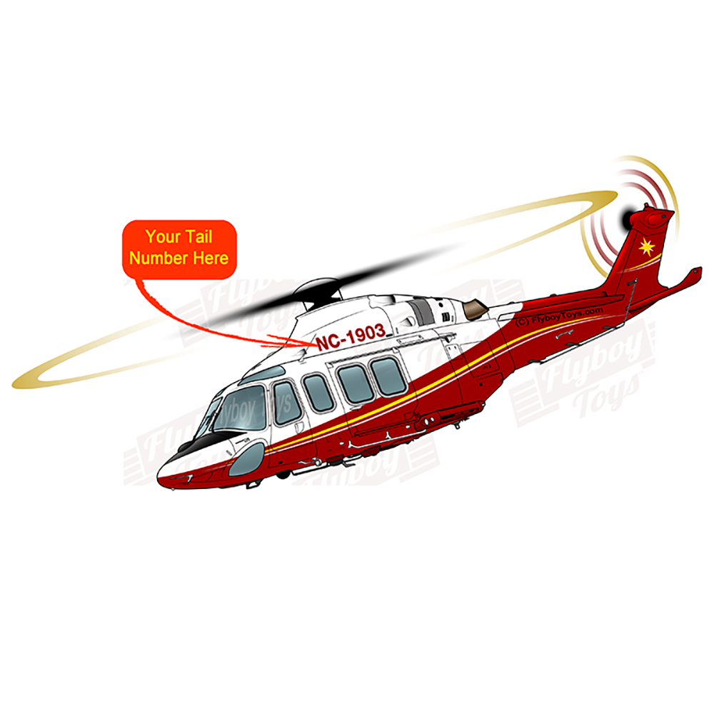 Helicopter Design (Red/Yellow) - HELI17LAW139-RY1