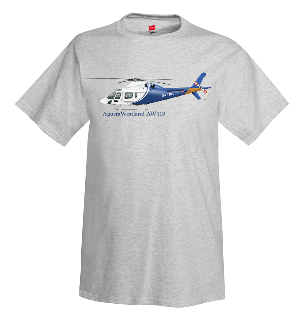AgustaWestland AW119 Koala Helicopter T-Shirt - Personalized with Your N#