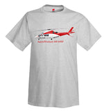 AgustaWestland AW109SP Helicopter  T-Shirt - Personalized with Your N#
