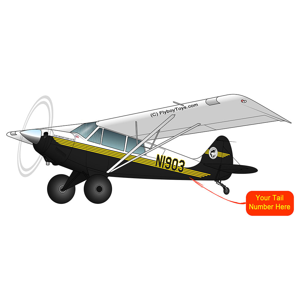 Airplane Design (Black/Yellow) - AIR1M98LJ-YB1