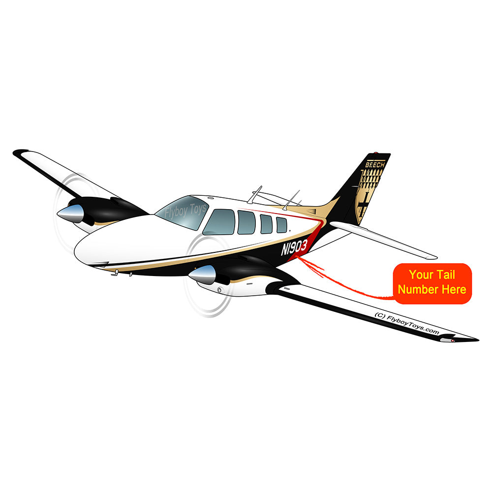Airplane Design (Black/Gold/Red) - AIR25521I-BGR2