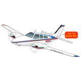 Beechcraft Baron 95-55 Blue Red