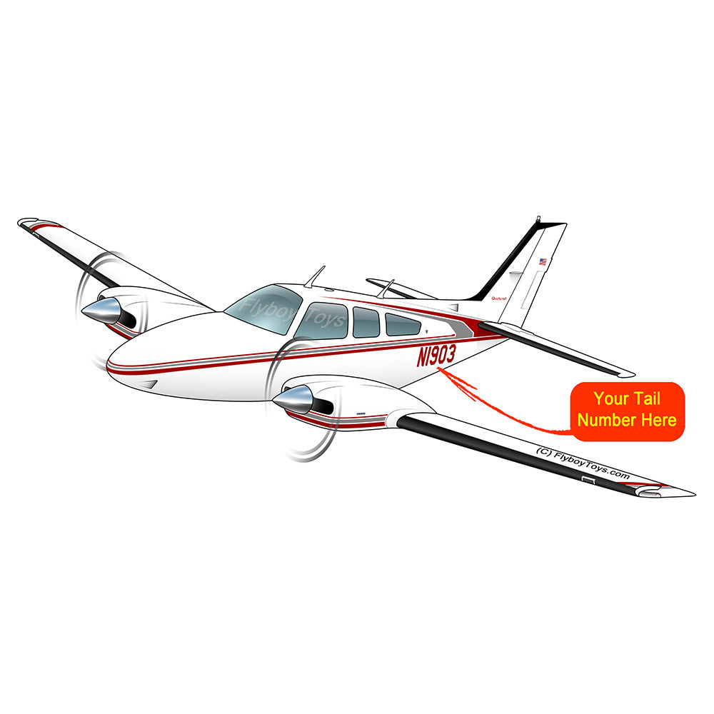Airplane Design (Red/Silver) - AIR25521I-RS1