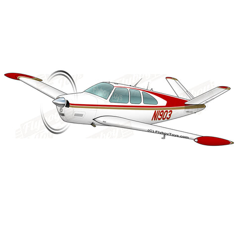 Airplane Design (Red/Brown) - AIR2552FEN35-RB2