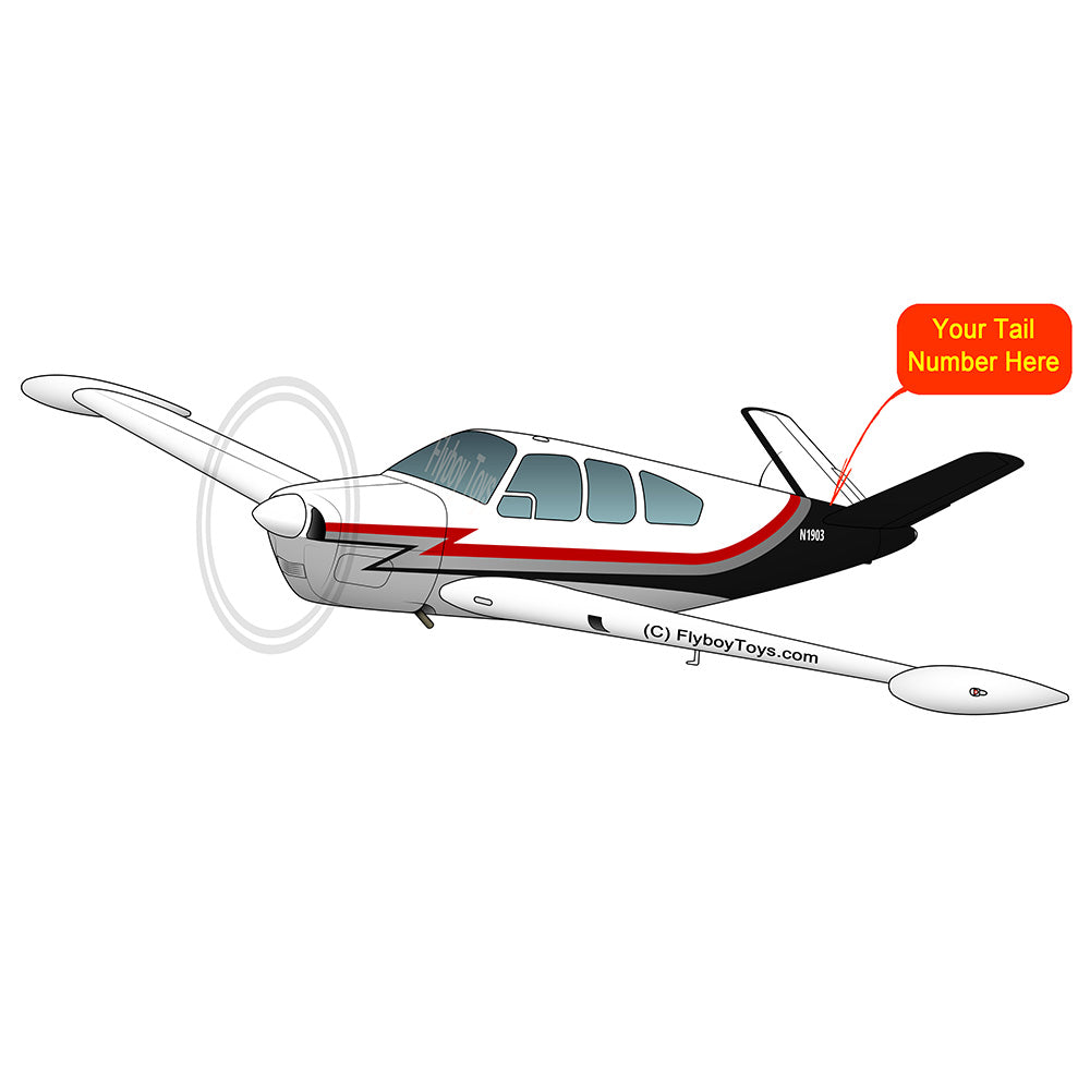 Airplane Design (Red/Silver/Black) - AIR2552FE35-RSB1