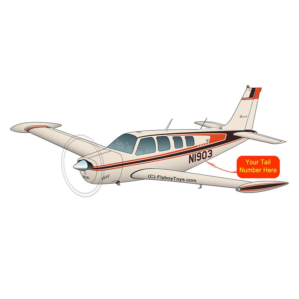 Beechcraft Bonanza A36 Orange Black