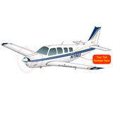 Beechcraft Bonanza A36 Blue Gold