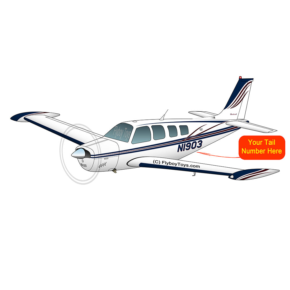 Beechcraft Bonanza A36 Blue Black