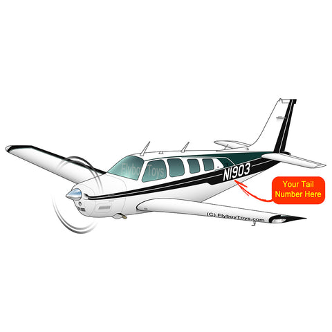 Beechcraft Bonanza A36 Black Green