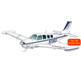 Airplane Design (Blue/Silver) - AIR2552FEA36-BS1