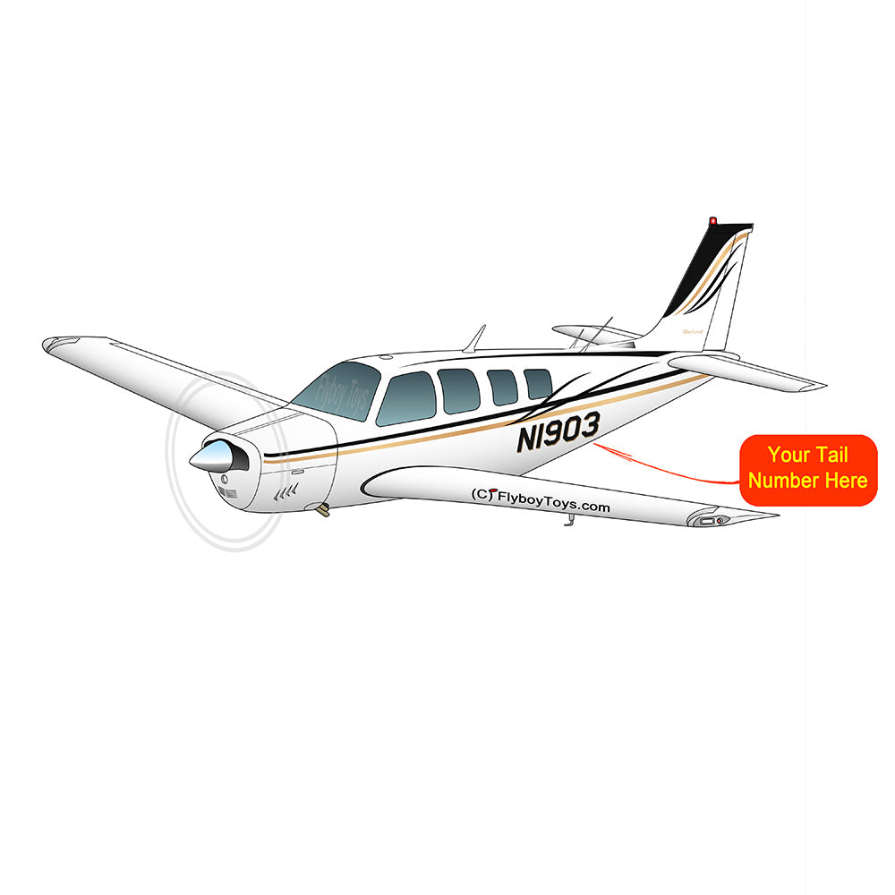 Beechcraft Bonanza A36 Black Yellow