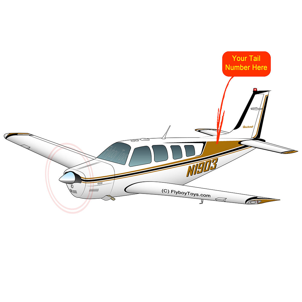 Beechcraft Bonanza A36 Gold Black