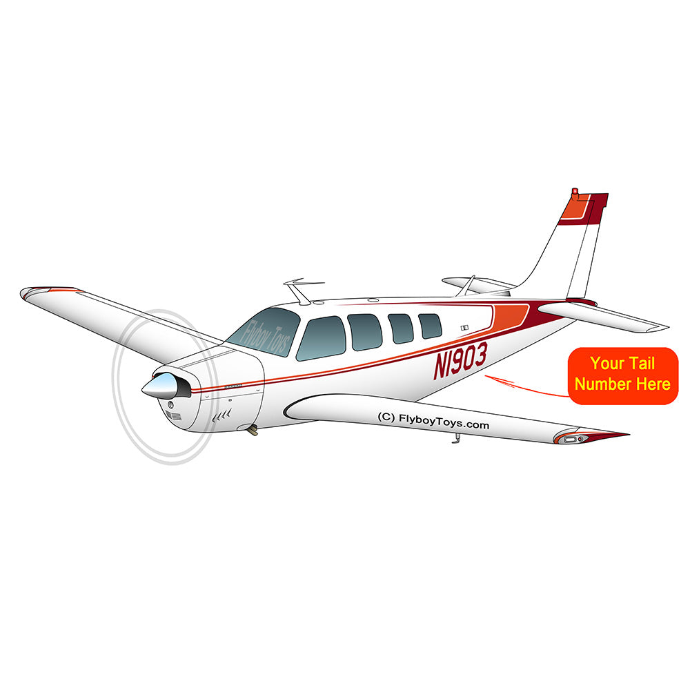 Beechcraft Bonanza A36 Orange Red