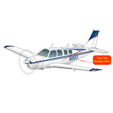 Airplane Design (Red/Silver/Blue) - AIR2552FEA36-RSB1
