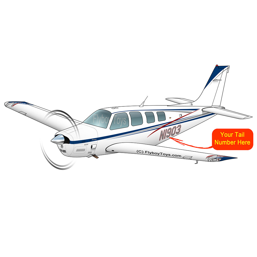 Beechcraft Bonanza B36 Blue Red