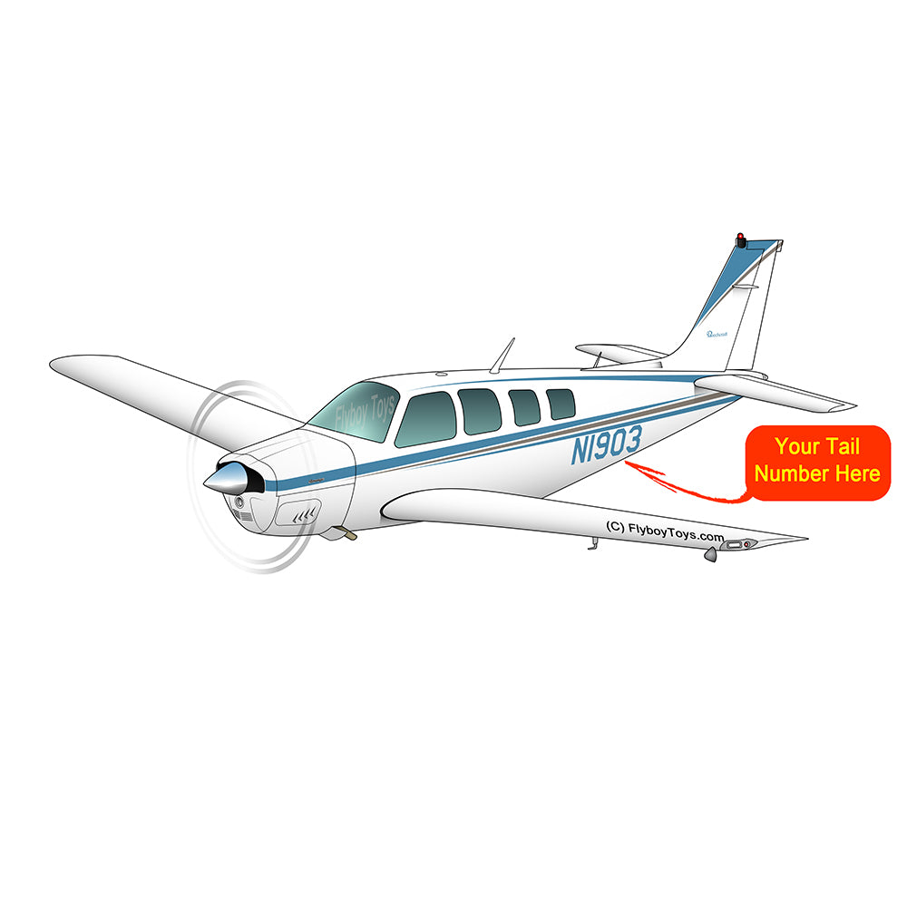 Beechcraft Bonanza B36 Blue Tan