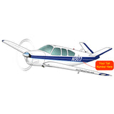 Beechcraft Bonanza C35 Blue