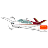 Airplane Design (Red/Gold) - AIR2552FEC35-RG1