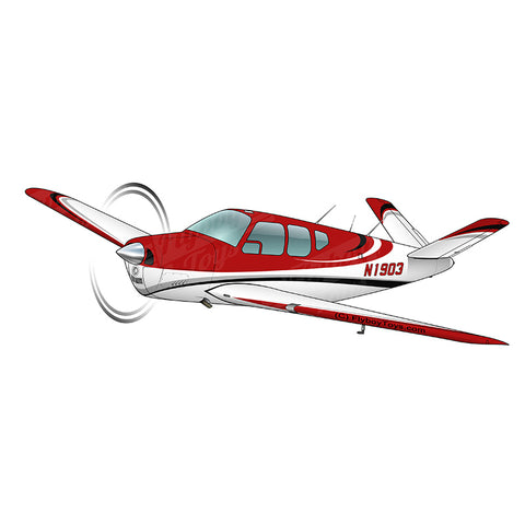 Airplane Design (Red/Silver/Black) - AIR2552FEC35-RSB1