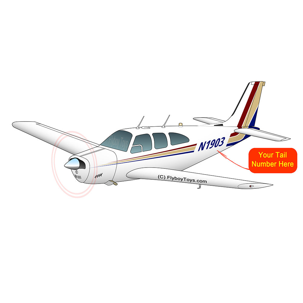 Airplane Design (Red/Tan) - AIR2552FEE33-RT1