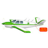 Beechcraft Bonanza E35 Green