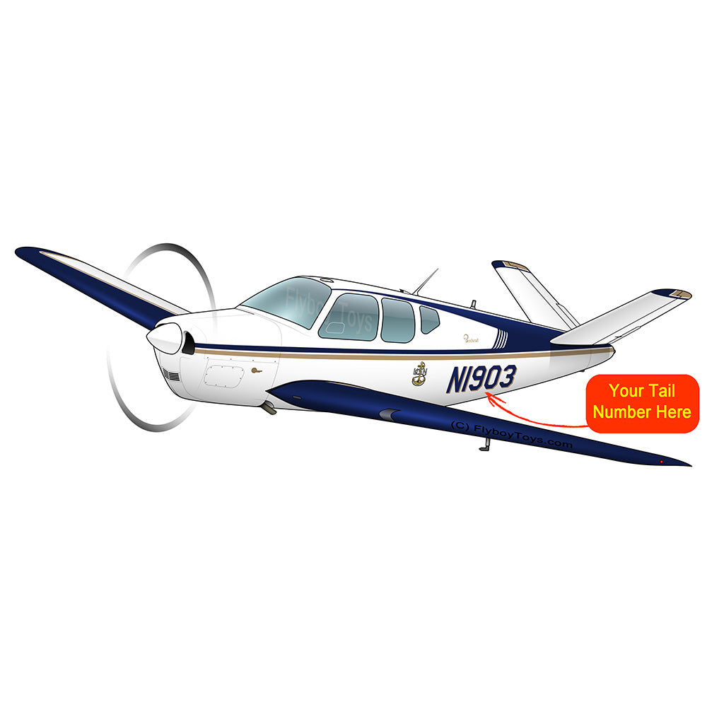 Beechcraft Bonanza G35 Blue Gold