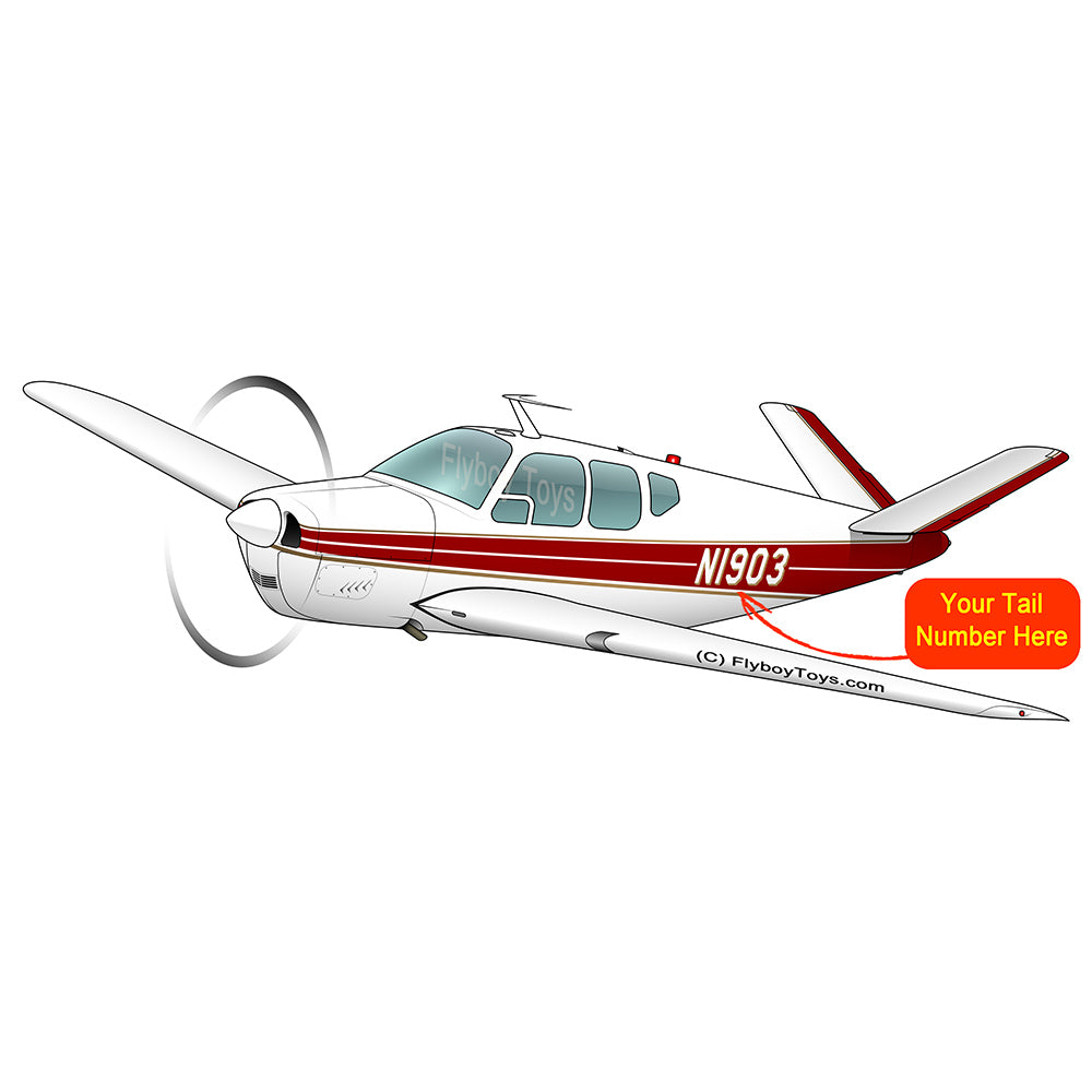 Airplane Design (Red/Gold) - AIR2552FEG35-RG1
