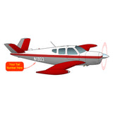 Airplane Design (Red/Silver) - AIR2552FEG35-RS1