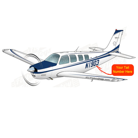 Airplane Design (Blue/Silver#4) - AIR2552FEG36-BS4