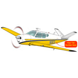 Airplane Design (Yellow/Black) - AIR2552FEJ35-YB1