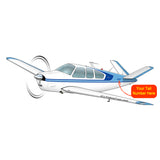 Beechcraft Bonanza K35 Blue