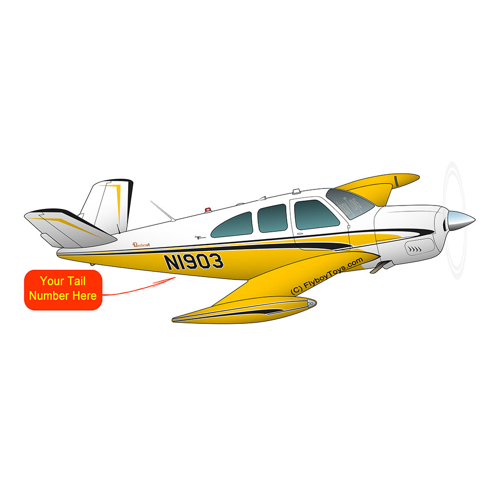 Airplane Design (Yellow/Black) - AIR2552FEP35-YB1