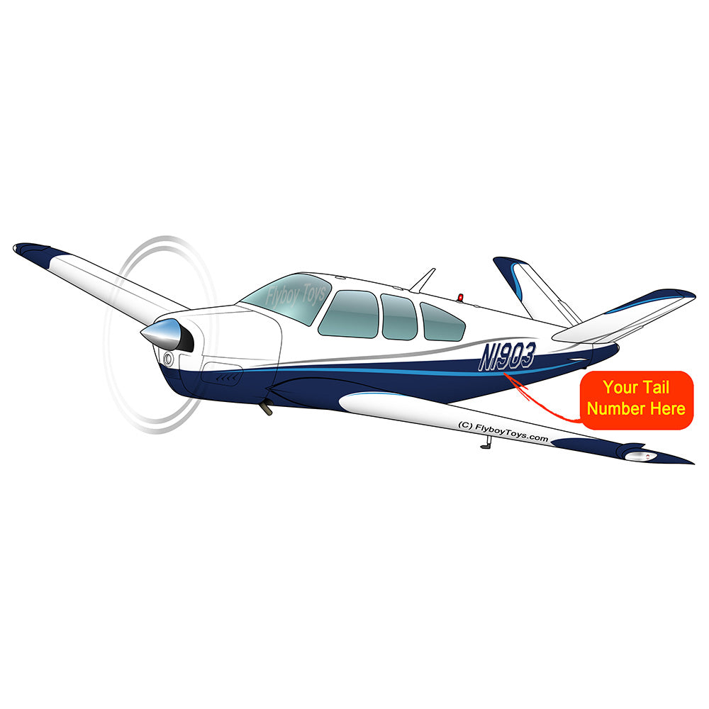 Beechcraft Bonanza S35 Blue 2