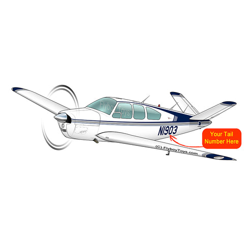 Beechcraft Bonanza S35 Blue 3
