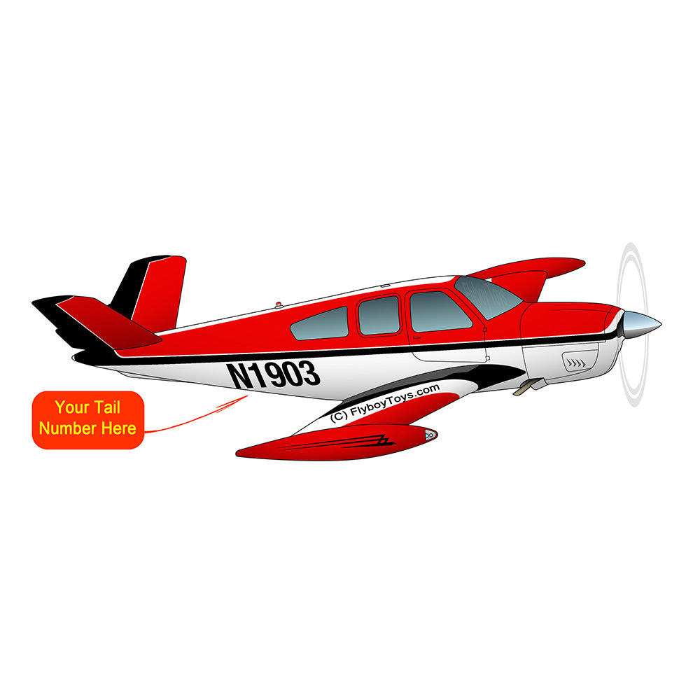 Airplane Design (Black/Red) - AIR2552FES35-BR1